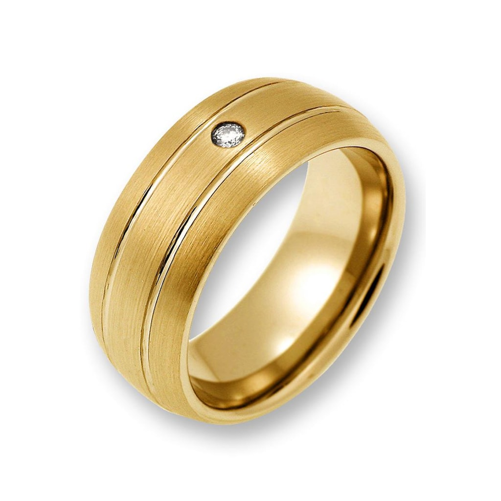 CORE by Schumann Design Trauring »TW023.06/19104738, TW023.07/19104763«, wahlweise mit oder ohne Zirkonia, Made in Germany