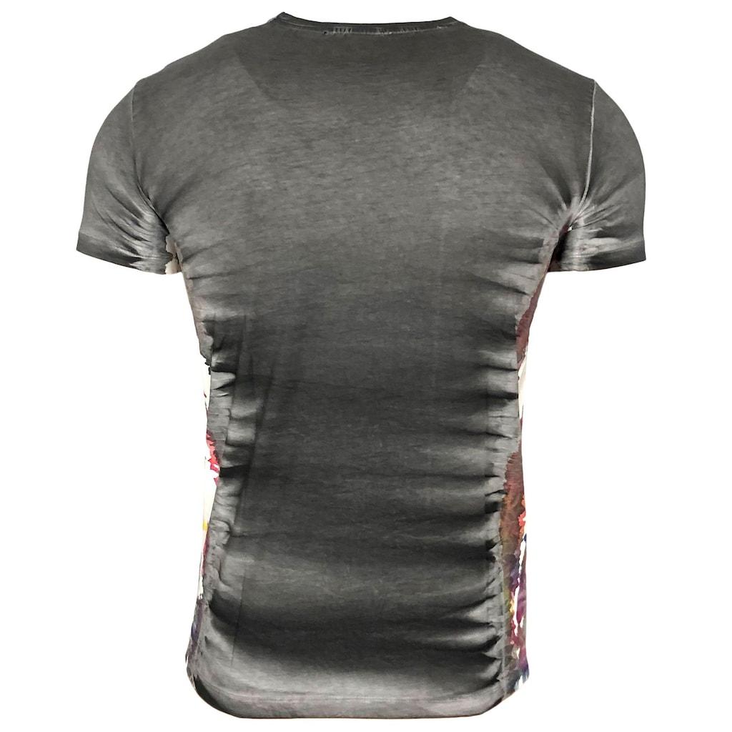 Rusty Neal T-Shirt mit Batik-Muster