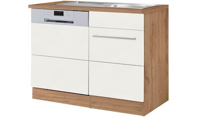 HELD MÖBEL Spülenschrank »Wien«, Breite 110 cm, inkl. Möbelfront für teilintegrierbaren Geschirrspüler kaufen
