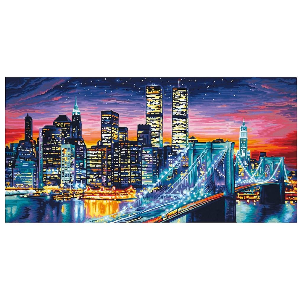Schipper Malen nach Zahlen »Meisterklasse Breitformat - Manhattan bei Nacht«, Made in Germany