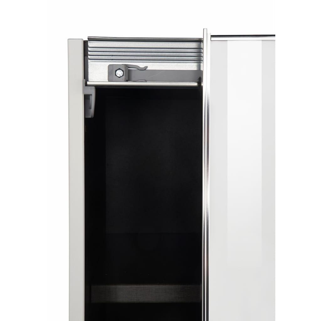 nolte® Möbel Schwebetürenschrank »Marcato 2.3«, mit Fronten aus Weißglas, Breite 300 cm