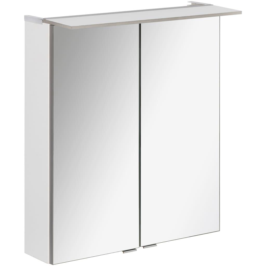 FACKELMANN Spiegelschrank »PE 60 - weiß«, Breite 60 cm, 2 Türen, LED-Badspiegelschrank