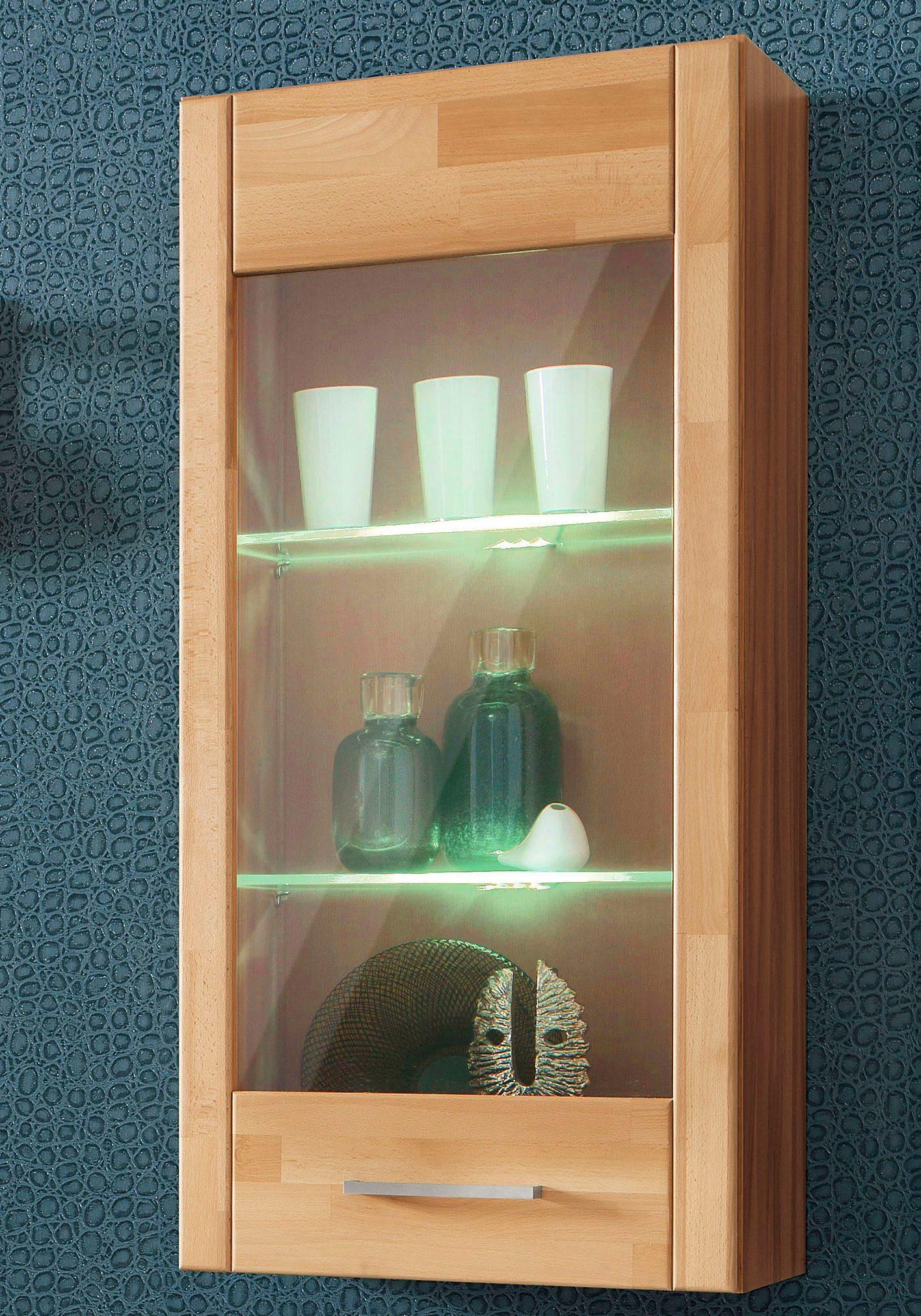 h ngevitrine t r mit glaseinsatz h he 105cm bestellen baur. Black Bedroom Furniture Sets. Home Design Ideas