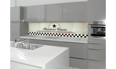 Küchenrückwand  -  Spritzschutz »profix«, American Diners, 220x60 cm kaufen