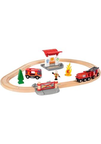 BRIO® Spielzeug-Eisenbahn »BRIO® WORLD Feuerwehr Set«, mit Licht und Soundfunktion,... kaufen
