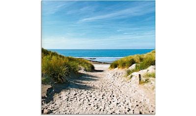 Artland Glasbild »Strand mit Sanddünen und Weg zur See« kaufen