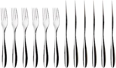 nurso Steakbesteck »Lykke«, (Set, 12 tlg.), Edelstahl 18/10, 12-teilig kaufen
