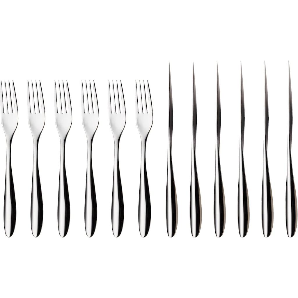 nurso Steakbesteck »Lykke«, (Set, 12 tlg.), Edelstahl 18/10, 12-teilig