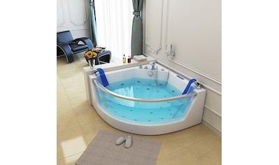 HOME DELUXE Whirlpool-Badewanne »Cadiz L«, B/T/H in cm: 141/141/62, Selbstreinigungsverfahren kaufen