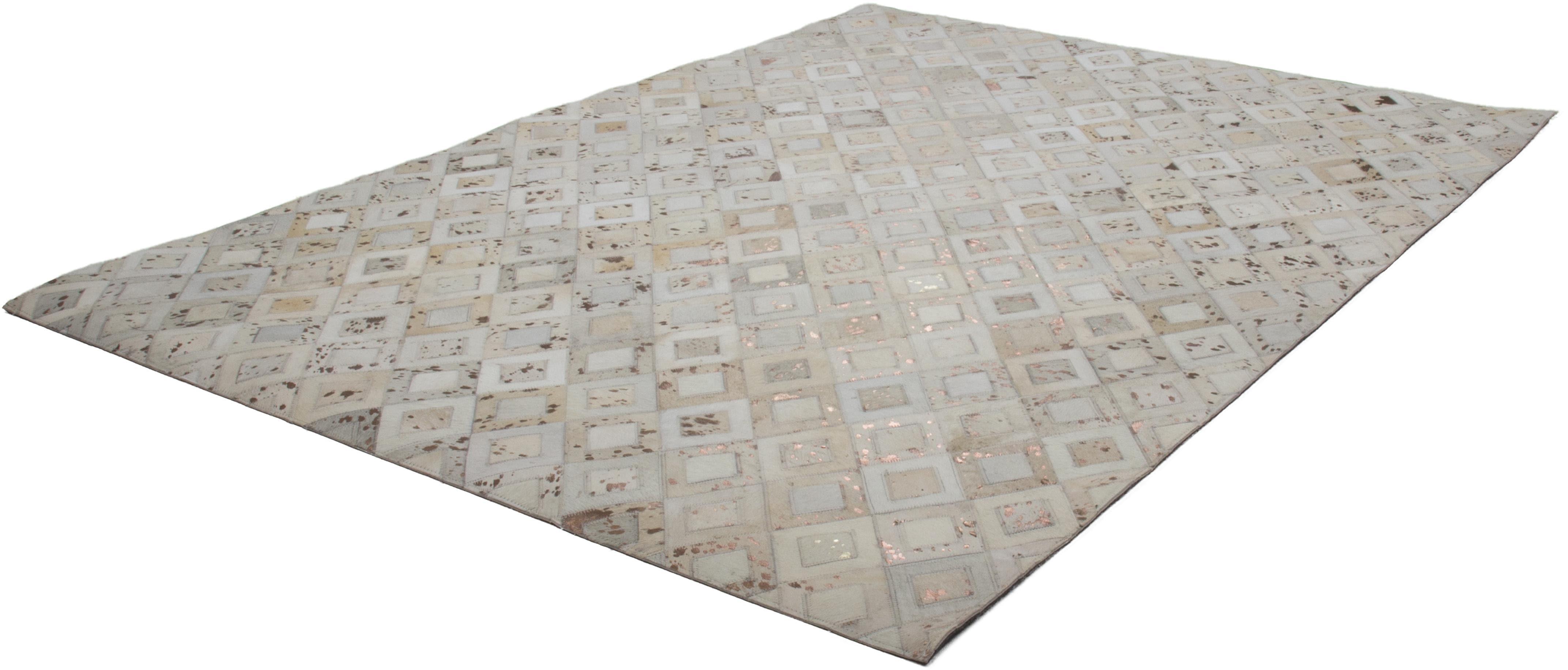 Lederteppich Spark 110 Kayoom rechteckig Höhe 8 mm handgewebt