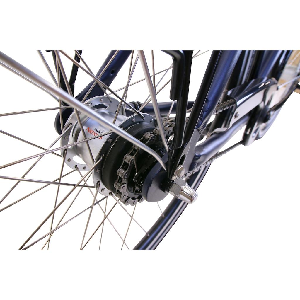 HAWK Bikes Trekkingrad »HAWK Citytrek Gent Deluxe Plus Ocean Blue«, 7 Gang, Shimano, Nexus Schaltwerk