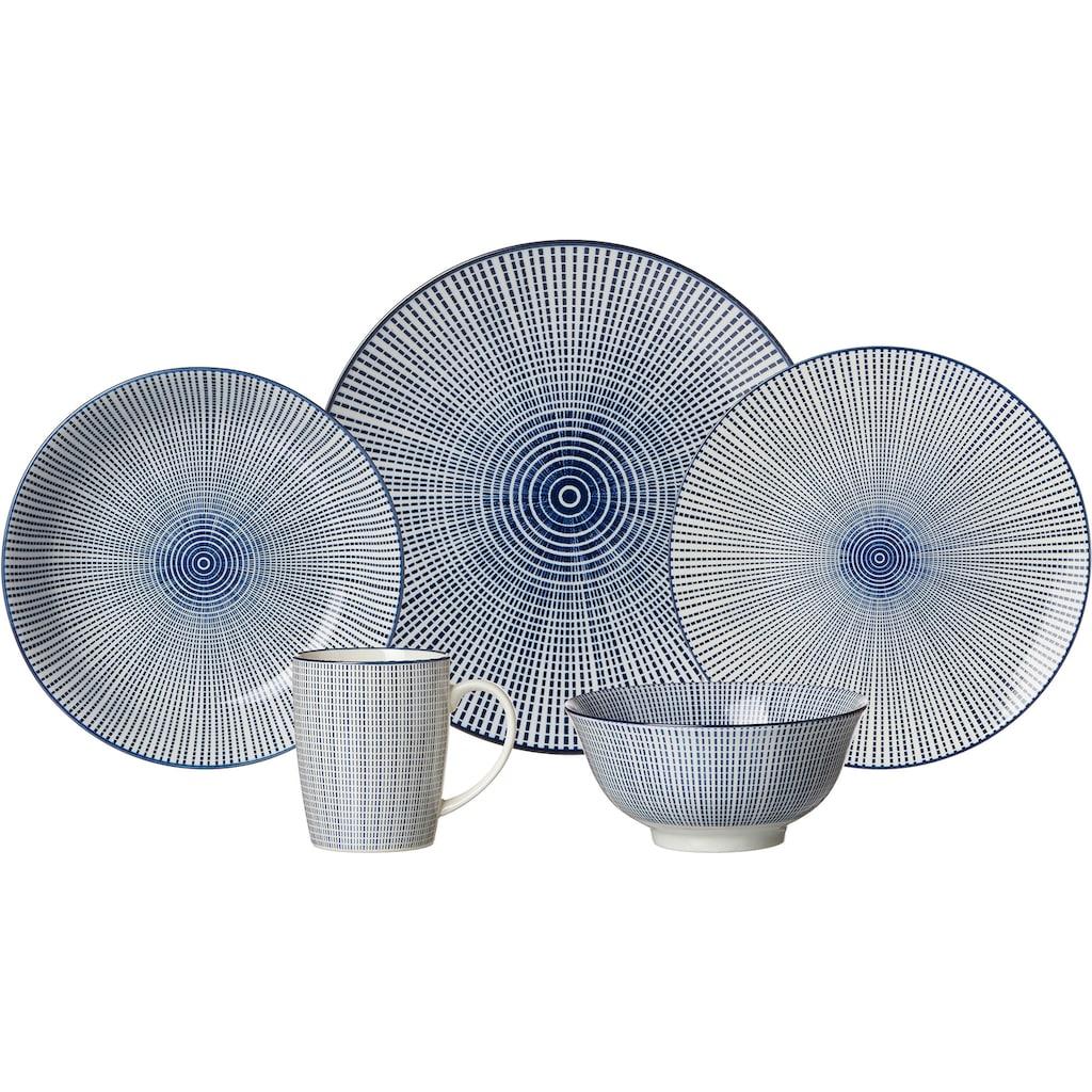 Ritzenhoff & Breker Suppenteller »ROYAL MAKOTO«, (Set, 4 St.), Keramik