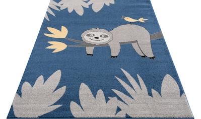 Lüttenhütt Kinderteppich »Faultier«, rechteckig, 14 mm Höhe, weiche Haptik, Kinderzimmer kaufen