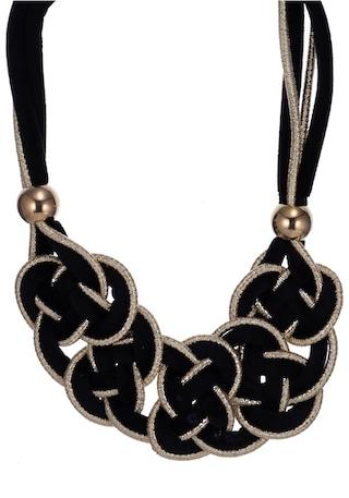 J.Jayz Kette mit Anhänger in Knotenoptik Halsschmuck Damen Ketten Halsketten