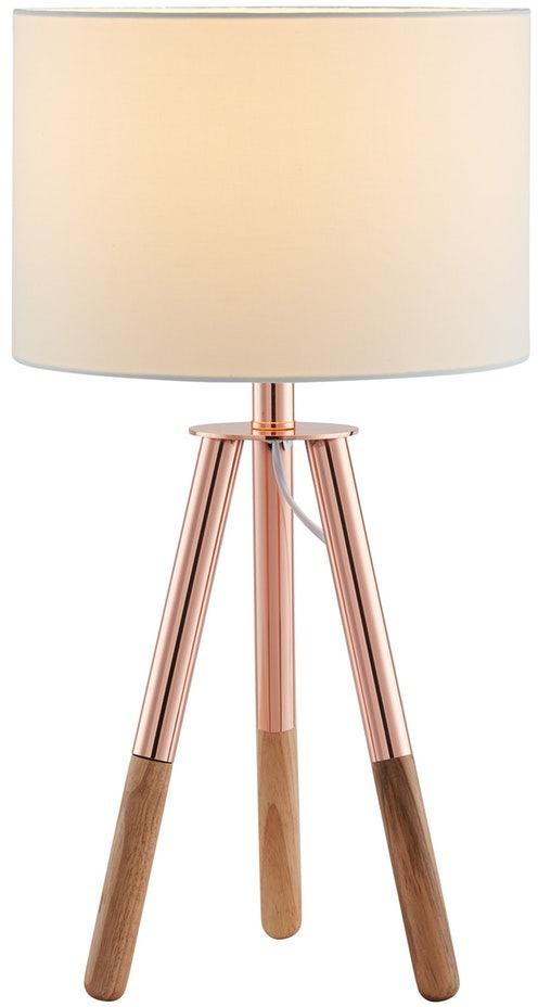 SalesFever Tischleuchte Inese, E27, 1 St., Dreibeiniges Stativ, skandinavisches Design