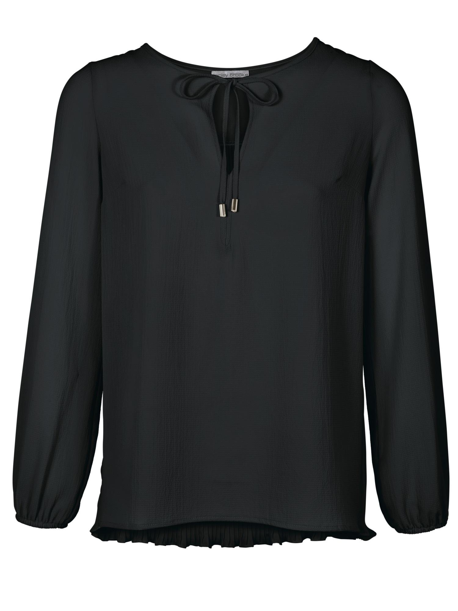 heine TIMELESS Bluse mit Plissee-Einsatz