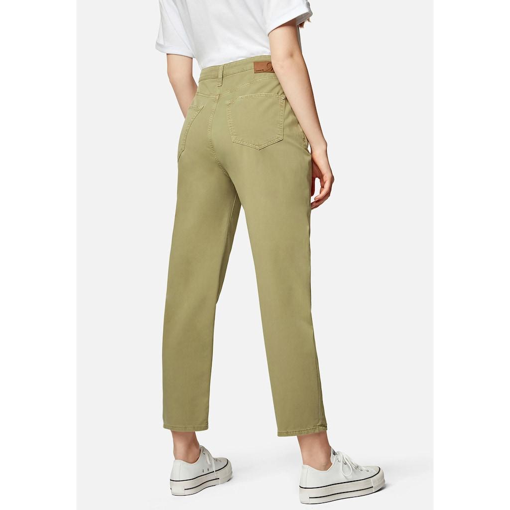 Mavi 5-Pocket-Hose »LAURA-MA«, Mom fit mit verkürzten Bein und hohen Bund
