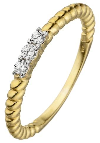 JOBO Fingerring, 333 Gold mit 3 Zirkonia kaufen