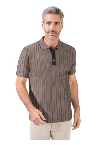 Marco Donati Kurzarm - Poloshirt mit vorteilhaften Längsstreifen kaufen