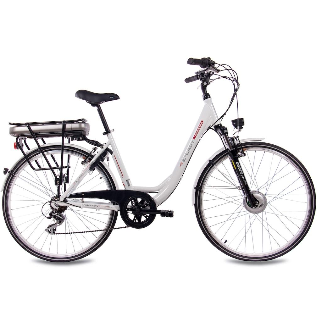 Chrisson E-Bike »E-Lady«, 7 Gang, Shimano, Acera RD-M360-SGS, Frontmotor 250 W