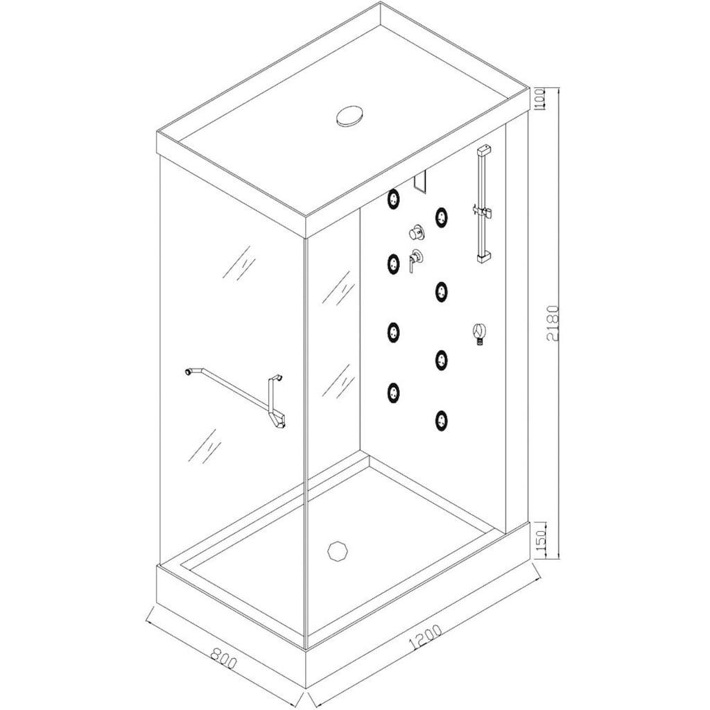 HOME DELUXE Dampfdusche »Design M«, mit Radio und Dampfsauna