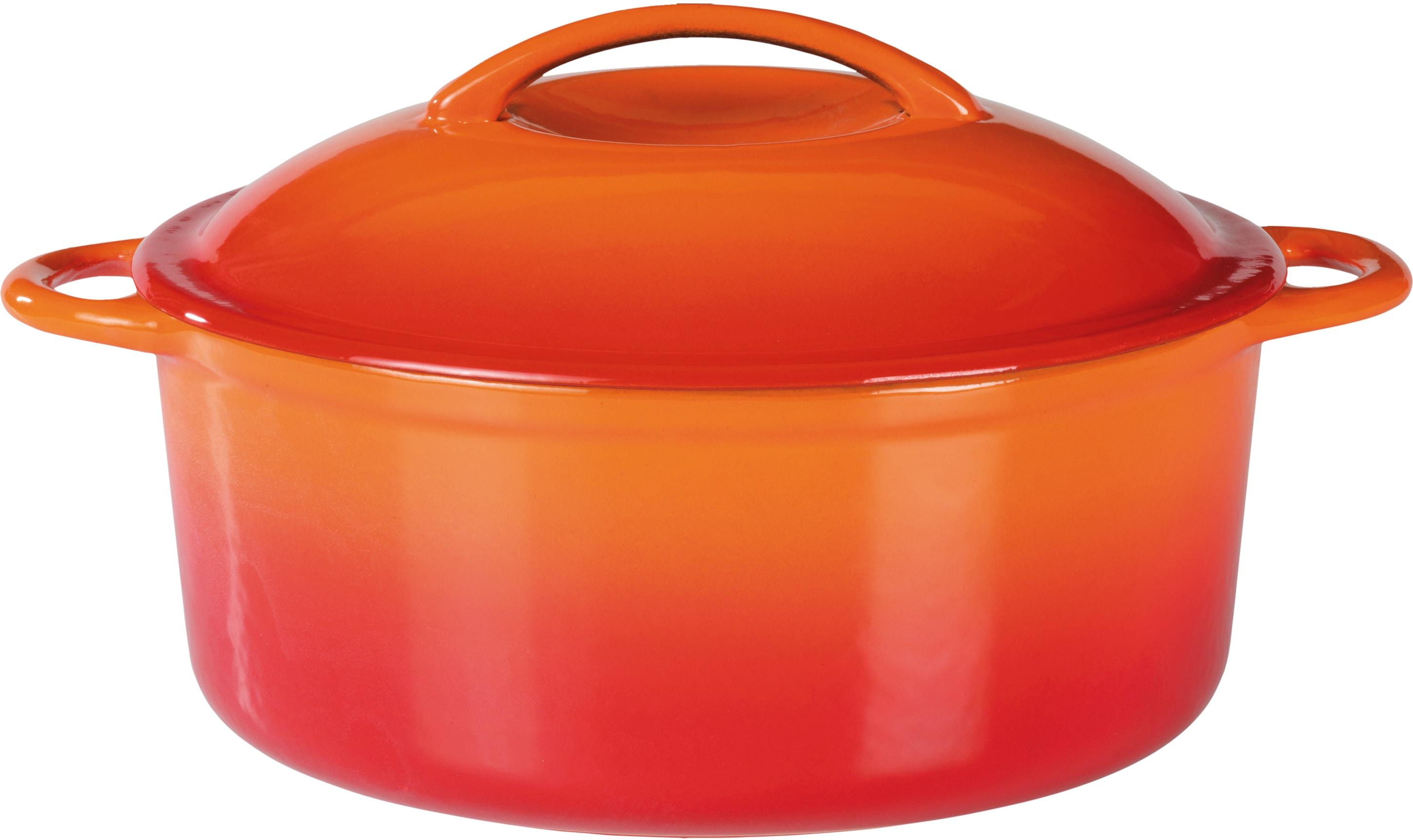 GSW Kochtopf Orange Shadow, Gusseisen, (1 tlg.), Induktion orange Gemüsetöpfe Töpfe Haushaltswaren