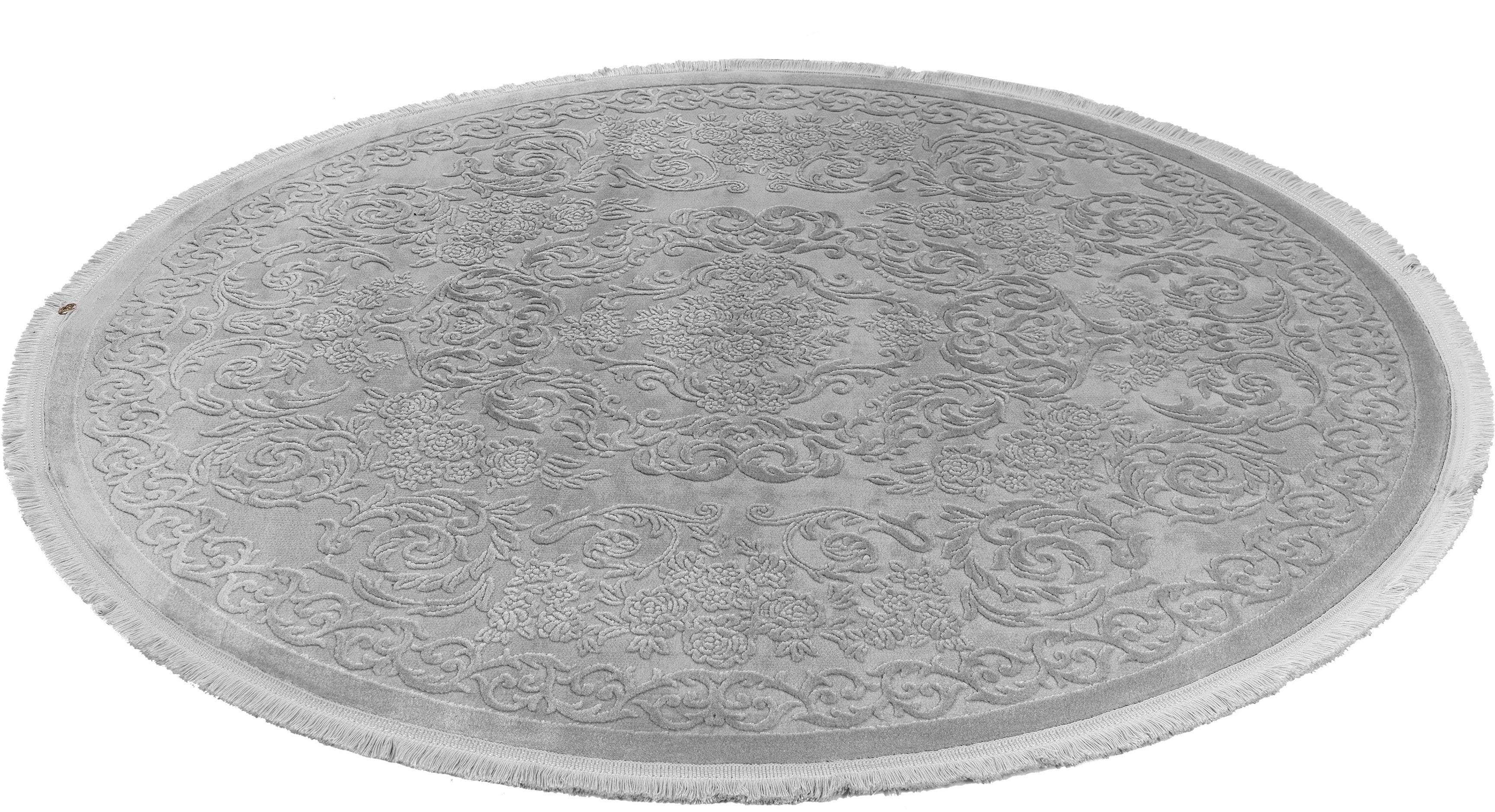 Teppich Arlos 800 calo-deluxe rund Höhe 12 mm maschinell gewebt