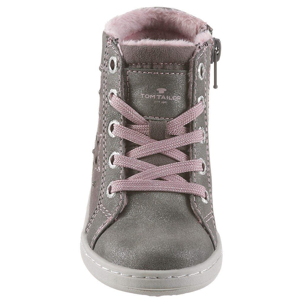 TOM TAILOR Sneaker »Blinkschuh«, mit Glitzer