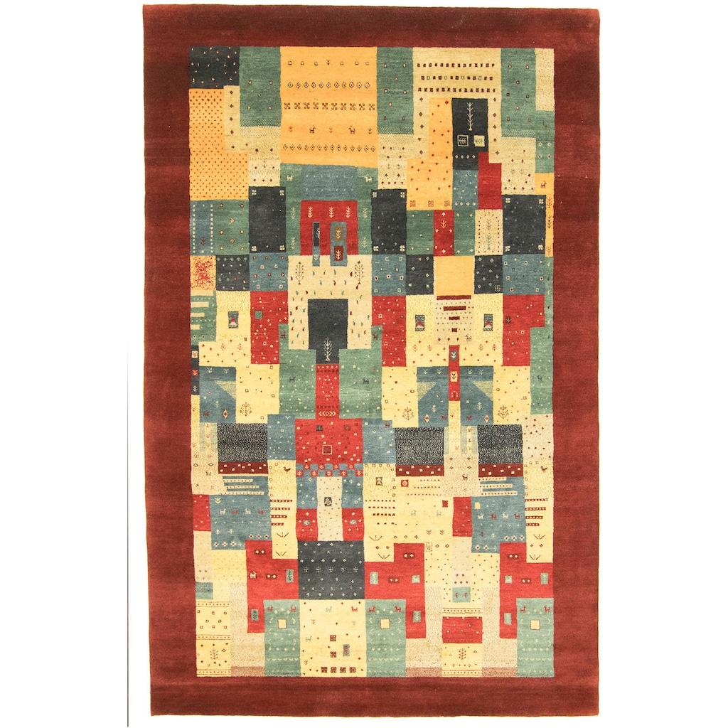 morgenland Wollteppich »LORIBAFT AWARO«, rechteckig, 18 mm Höhe, reine Wolle, Luxus, fein Handgeknüpft, Wohnzimmer