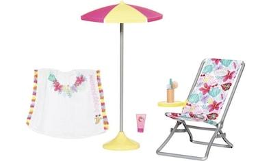 Baby Born Puppen Liegestuhl »Holiday Liegestuhl Set« kaufen