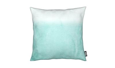 Juniqe Dekokissen »Fading Aqua«, Weiches, allergikerfreundliches Material kaufen
