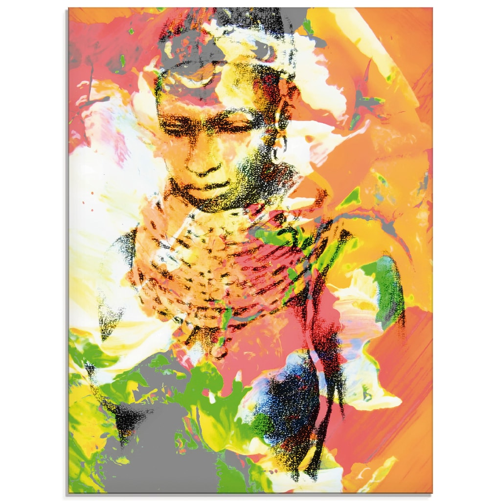 Artland Glasbild »Afrikanerin«, Frau, (1 St.)