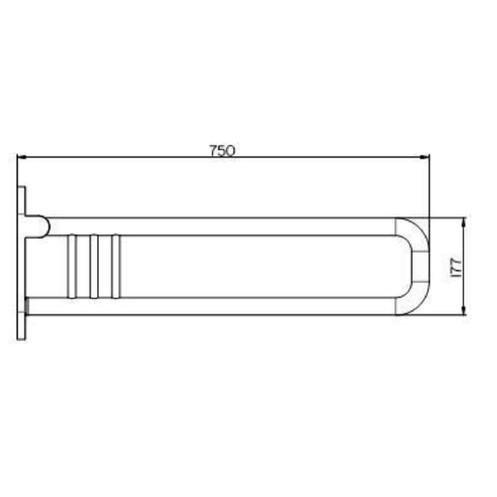 Provex Stützklappgriff »Serie 300 Steel«, belastbar bis 130 kg, Edelstahl