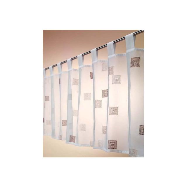 Scheibengardine, »Quadro«, ELBERSDRUCKE, Schlaufen 1 Stück