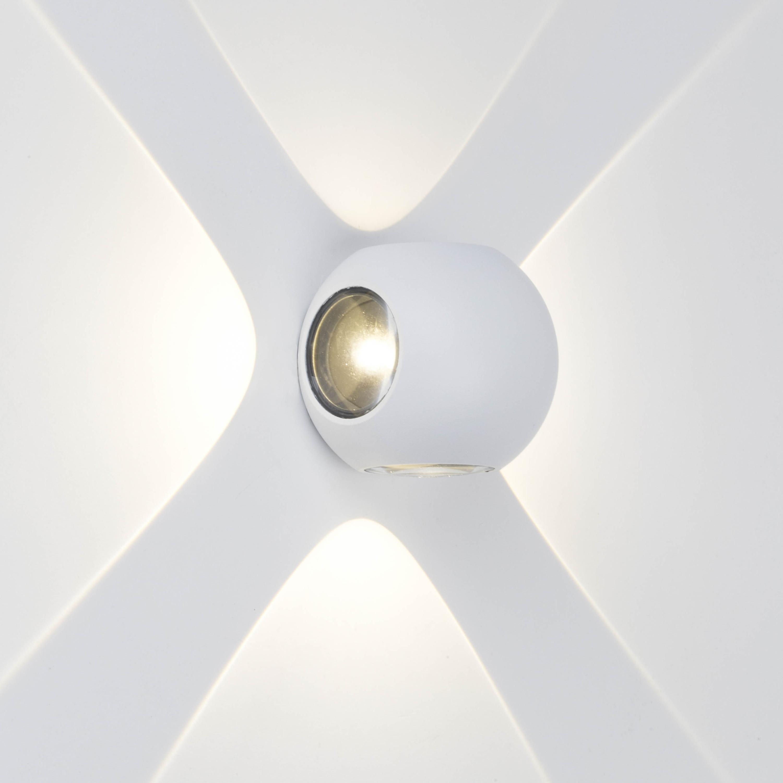 AEG Gus LED Außenwandleuchte 4flg weiß