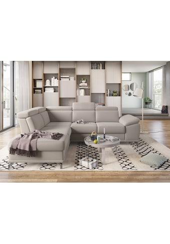 sit&more Ecksofa, mit Sitztiefenverstellung und Federkern, wahlweise mit Bettfunktion und Bettkasten, jeweils inklusive 3 Nierenkissen, frei im Raum stellbar kaufen