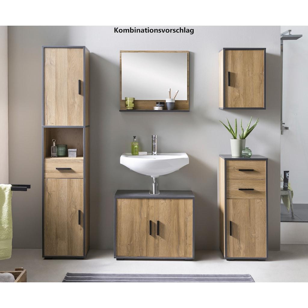 Wilmes Waschbeckenunterschrank »ADRIA«, Waschbecken Unterschrank 65 cm breit mit 2 Türen
