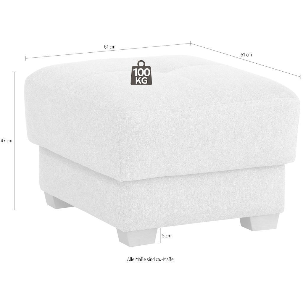 DELAVITA Polsterhocker »Casella Luxus«, mit besonders hochwertiger Polsterung für bis zu 140 kg pro Sitzfläche
