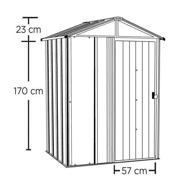 SPACEMAKER Stahlgerätehaus BxTxH: 151x122x198 cm