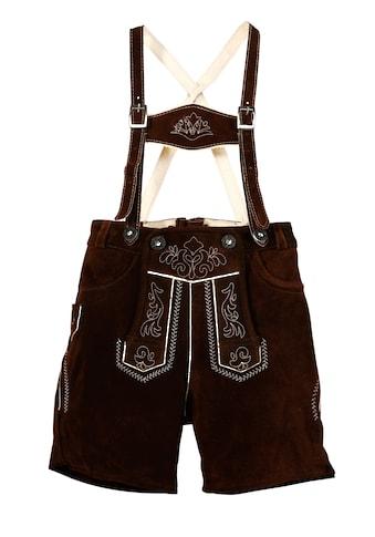 MarJo Trachtenlederhose, (2 tlg., mit Hosenträgern), Kinder mit Stickerei kaufen