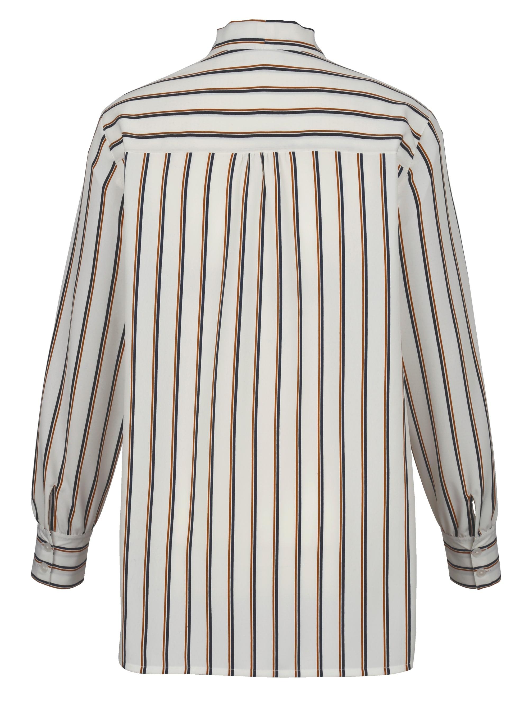 MIAMODA Bluse mit Schluppe zum Binden