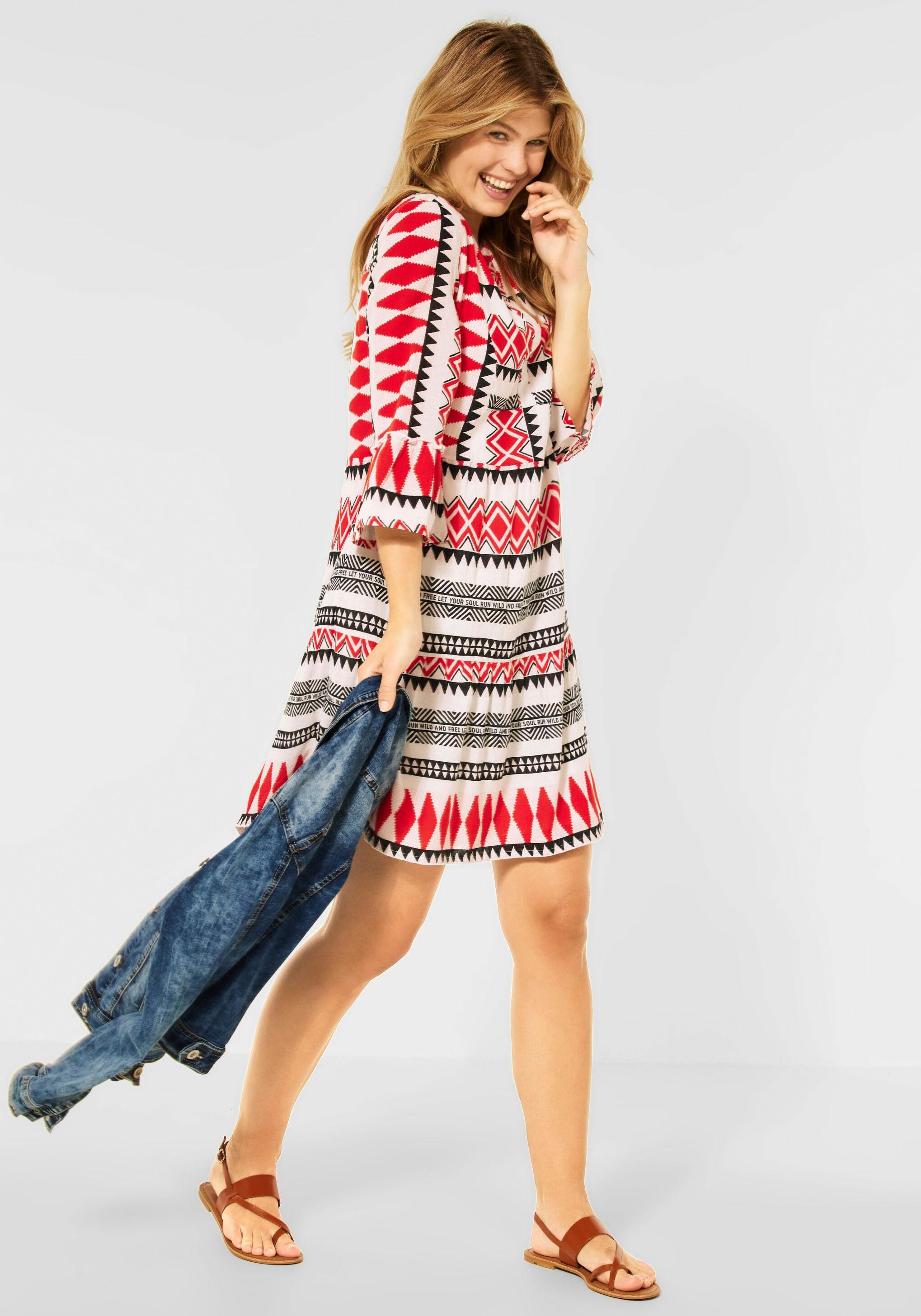 cecil -  Sommerkleid, mit Ethno Print
