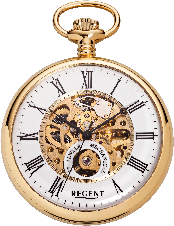 Regent Taschenuhr P558 (Set 2 tlg) | Uhren > Taschenuhren | Goldfarben | Regent