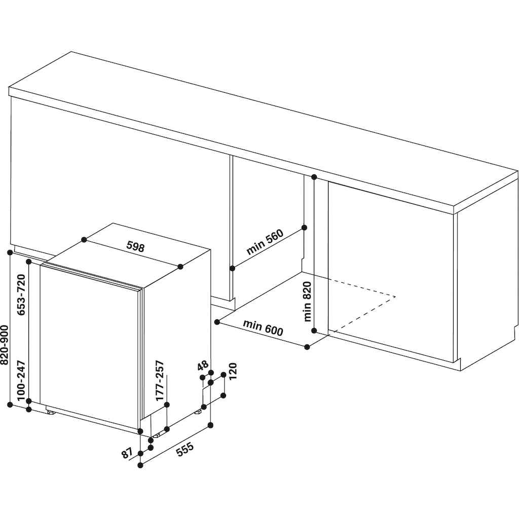 Privileg Family Edition vollintegrierbarer Geschirrspüler »RIO 3C23 A E 6.5 X«, RIO 3C23 A E 6.5 X, 14 Maßgedecke, 50 Monate Herstellergarantie