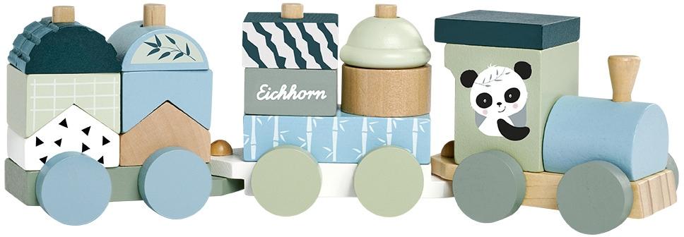 Eichhorn Spielzeug-Zug, aus Holz bunt Kinder Spielzeug-Zug Ab 12 Monaten Altersempfehlung