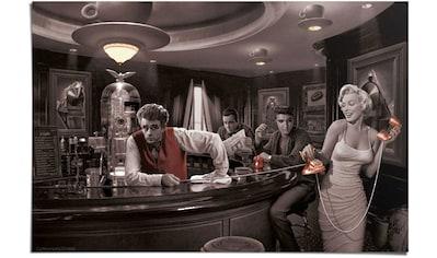 Reinders! Poster »Java Dreams Monroe, Dean, Presley, Bogart«, (1 St.) kaufen