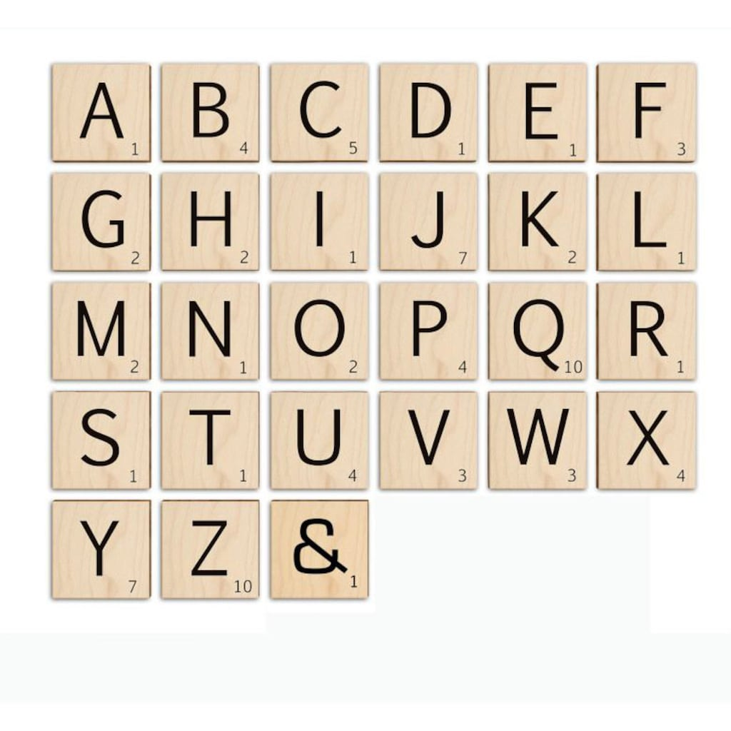 Wall-Art Holzbild »Scrabble Deko Buchstaben 15cm«, R, (1 St.)