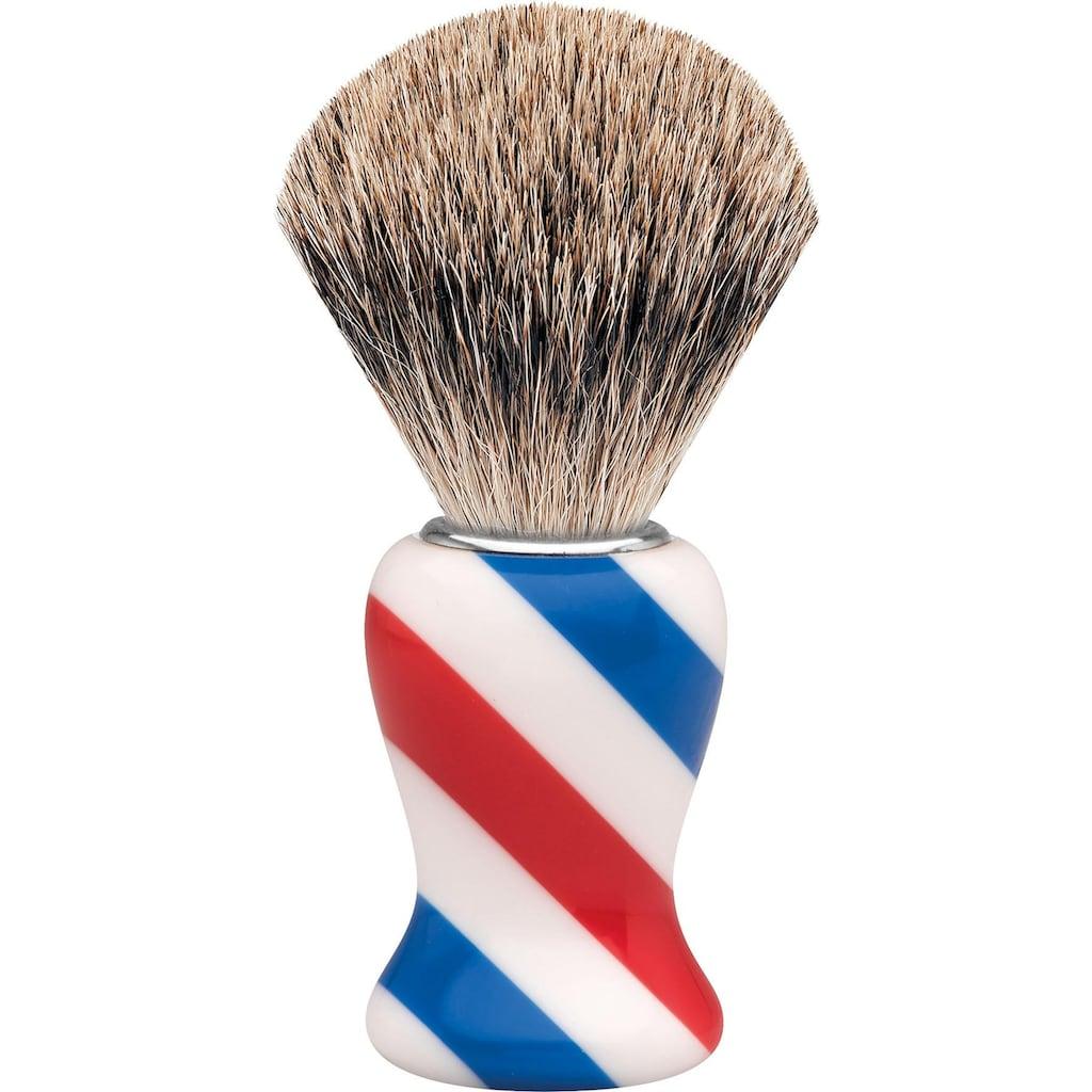 ERBE Rasierpinsel »M«, Dachshaar, Barbershop Design/Stripes