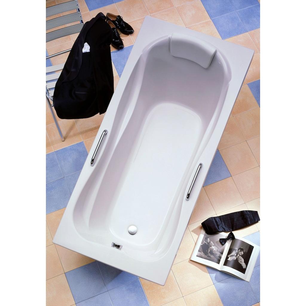OTTOFOND Badewanne »Jamaica«, mit Fußgestell, Ablaufgarnitur, Nackenkissen und Griffe