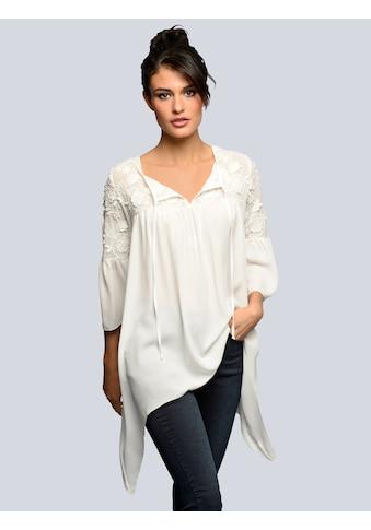 Alba Moda Bluse mit aufwendiger leicht transparenter Spitzenverarbeitung kaufen